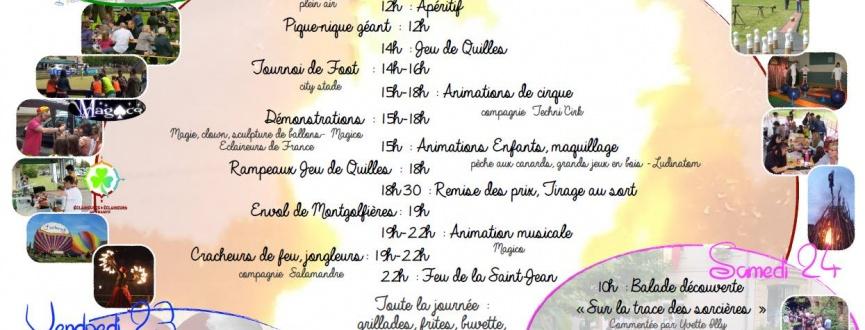 Programme de la fête au village